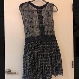 BCBG Aymeline Mixed Print Dress